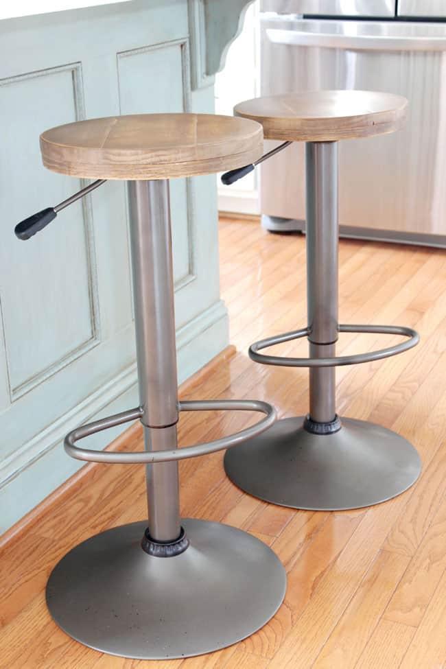 DIY Adjustable Industrial Barstools