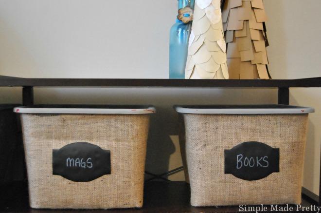 Burlap Baskets Using Dollar Store Baskets DIY