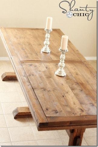 Three Pedestal Table
