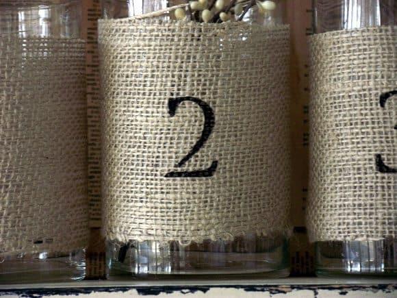 Wrapped Burlap Vases