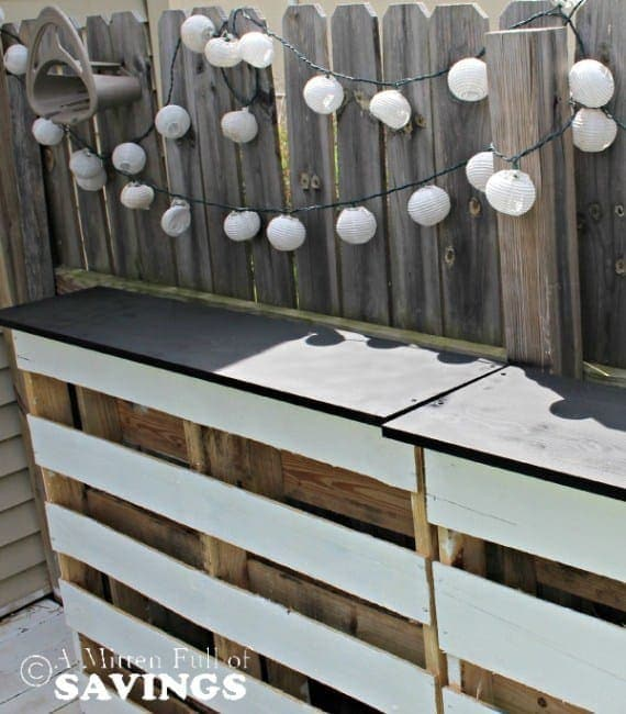 Shabby Chic Painted Patio Bar