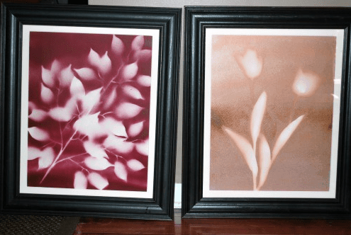 Budget Friendly Spray Paint Art