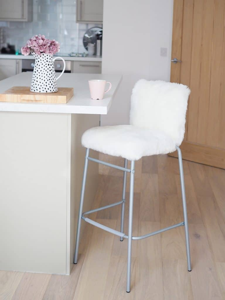 Faux Fur Upcycled Stool