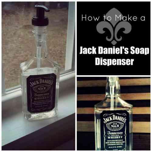 Recycled Jack Daniels Soap Bottle