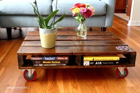 Incroyable Recycled Wooden Pallet Coffee Table