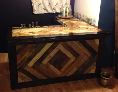 Chevron Design Pallet Bar