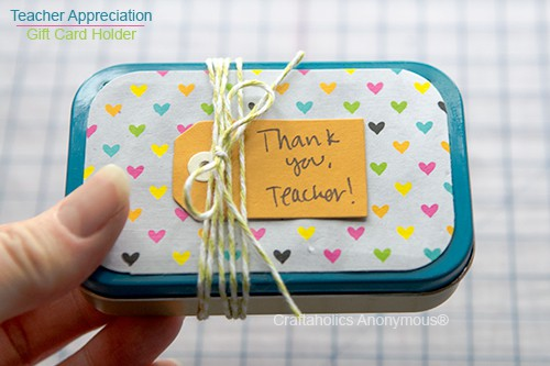 Altoid Mint Gift Card Thank You Container