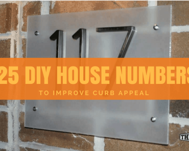25 diy house number