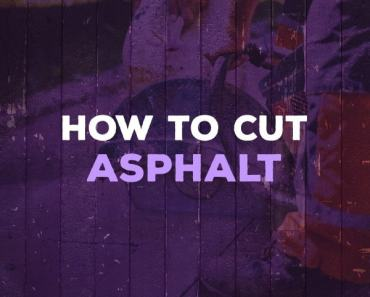how to cut asphalt