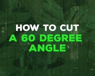 how to cut a 60 degree angle
