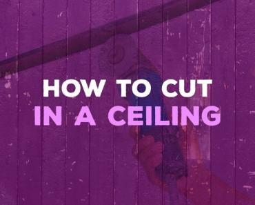 how to cut in a ceiling