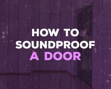 how to soundproof a door