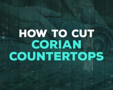 how to cut corian countertops