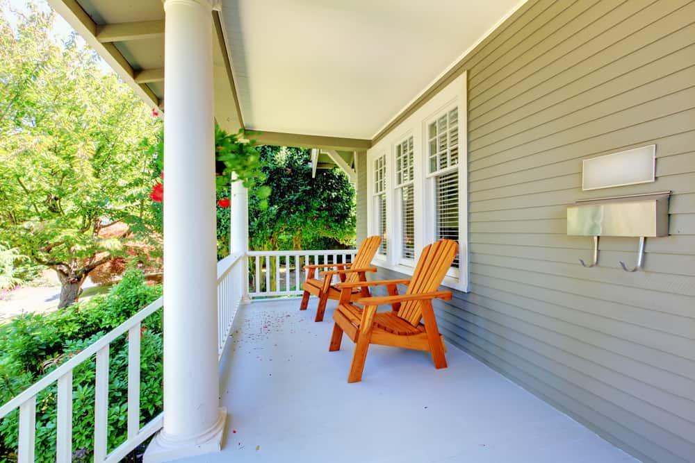 simple porch chairs neutral
