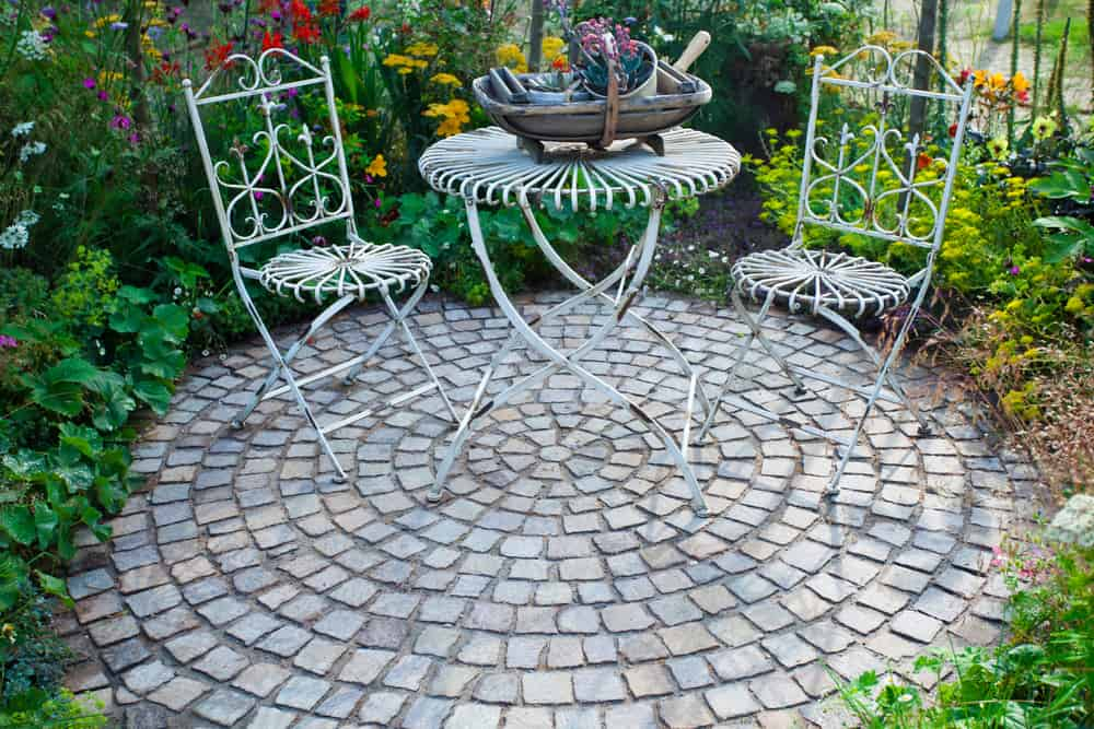 small round tiling dainty metalwork