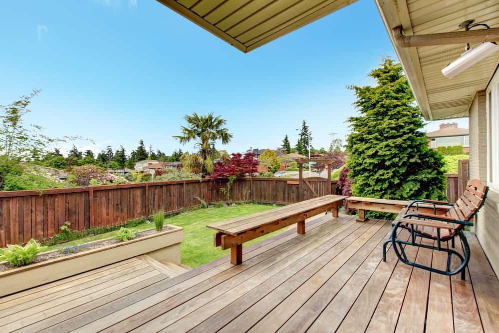 open deck bench railing