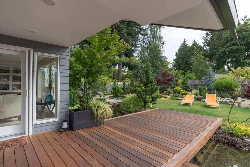 framed deck planks