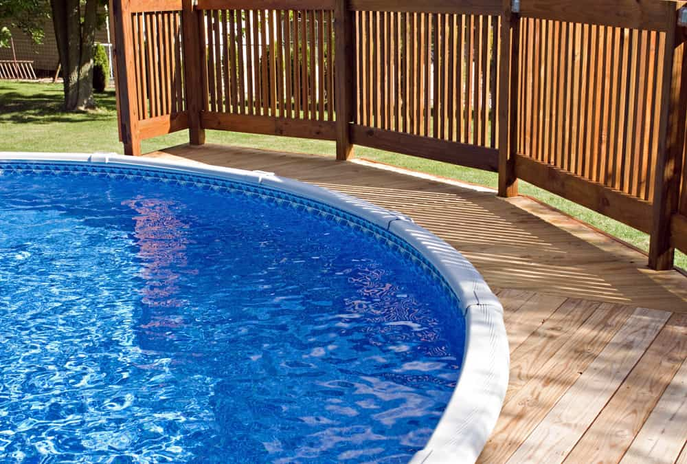 round inset pool wood rialing