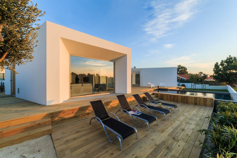 lounge chairs inset deck