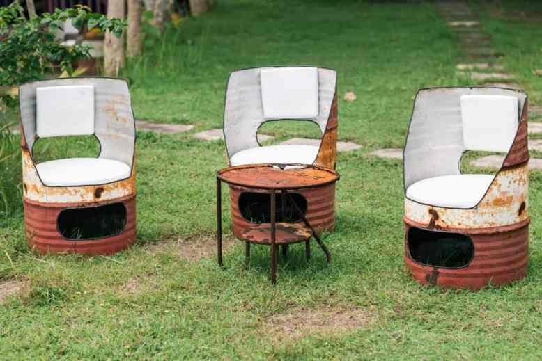 DIY Oil Drum Seats