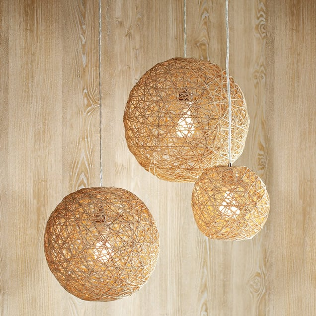 Twine Ball Lamp Transform bouncy balls into a twine ball lamp that are stylish and charming. These hanging lamps would be great for your office, home, or outdoor living space.thesawguy.com