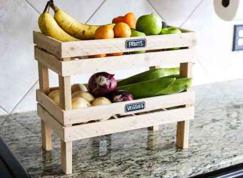 Elevate your fruit and veggies - Quick and easy wood project for the whole family