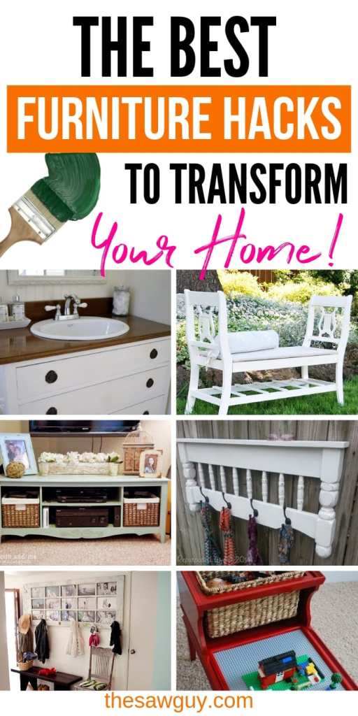 These furniture hacks will turn outdated and old furniture into treasured pieces. From little to no money you can have creative furniture statements throughout your home. thesawguy.com