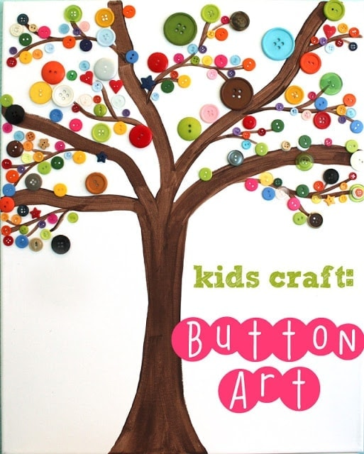 Button Tree Art Allow your creativity to come out when you make button tree art. This is a kids craft, but even adults will find it relaxing and entertaining to put together art like this. Grab some buttons and get started. thesawguy.com