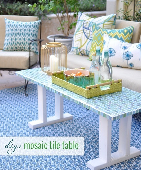 DIY Tile Table Transform your space with a DIY Tile Table! Even if you are just started out and have never tiled anything before you can make this table. Add whatever colors match your style and you will have a charming piece of furniture you made! thesawguy.com