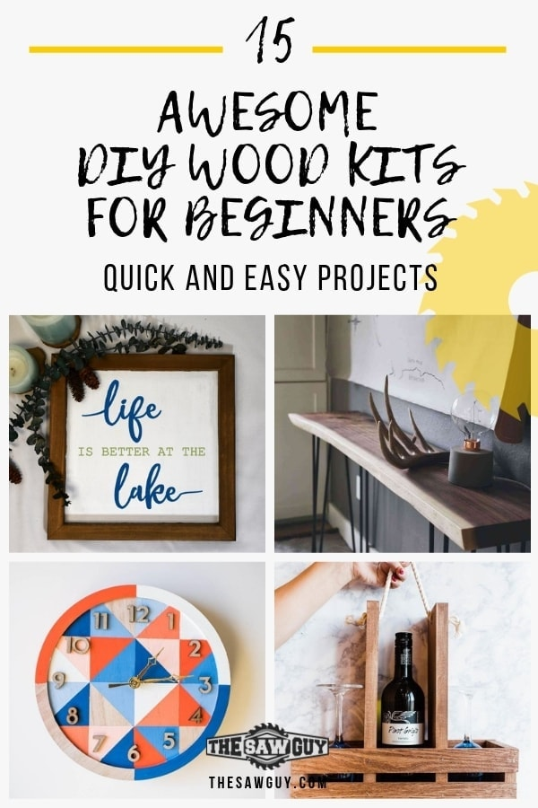 15 Awesome DIY Wood Kits For Beginners. thesawguy.com