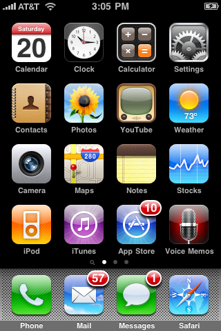 iphone dashboard