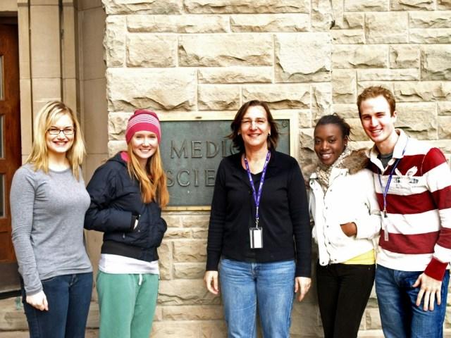 <span class='capsfont'><B class='capsB'>2008:</B><br>(<I class='capsI'>From left to right</I>) Laura Walker, Megan Clark, Susanne Schmid, Farena Pinnock, Tyler Brown</span>