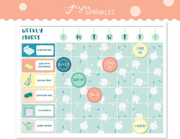 16 Printable Planner and Calendars chore chart