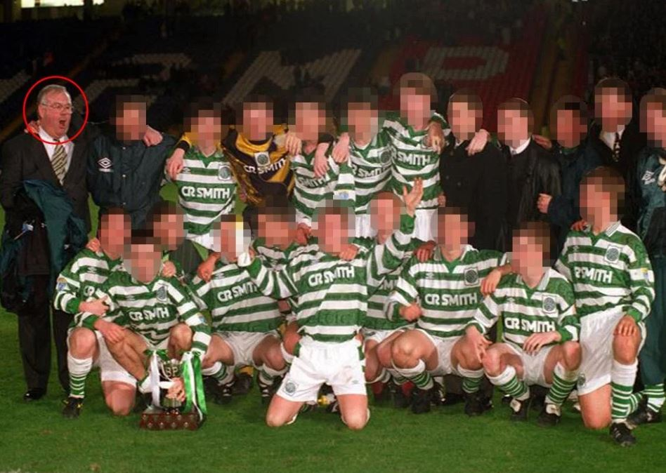 Jim McCafferty with the Celtic Youth Football Team line-up in 1995-96