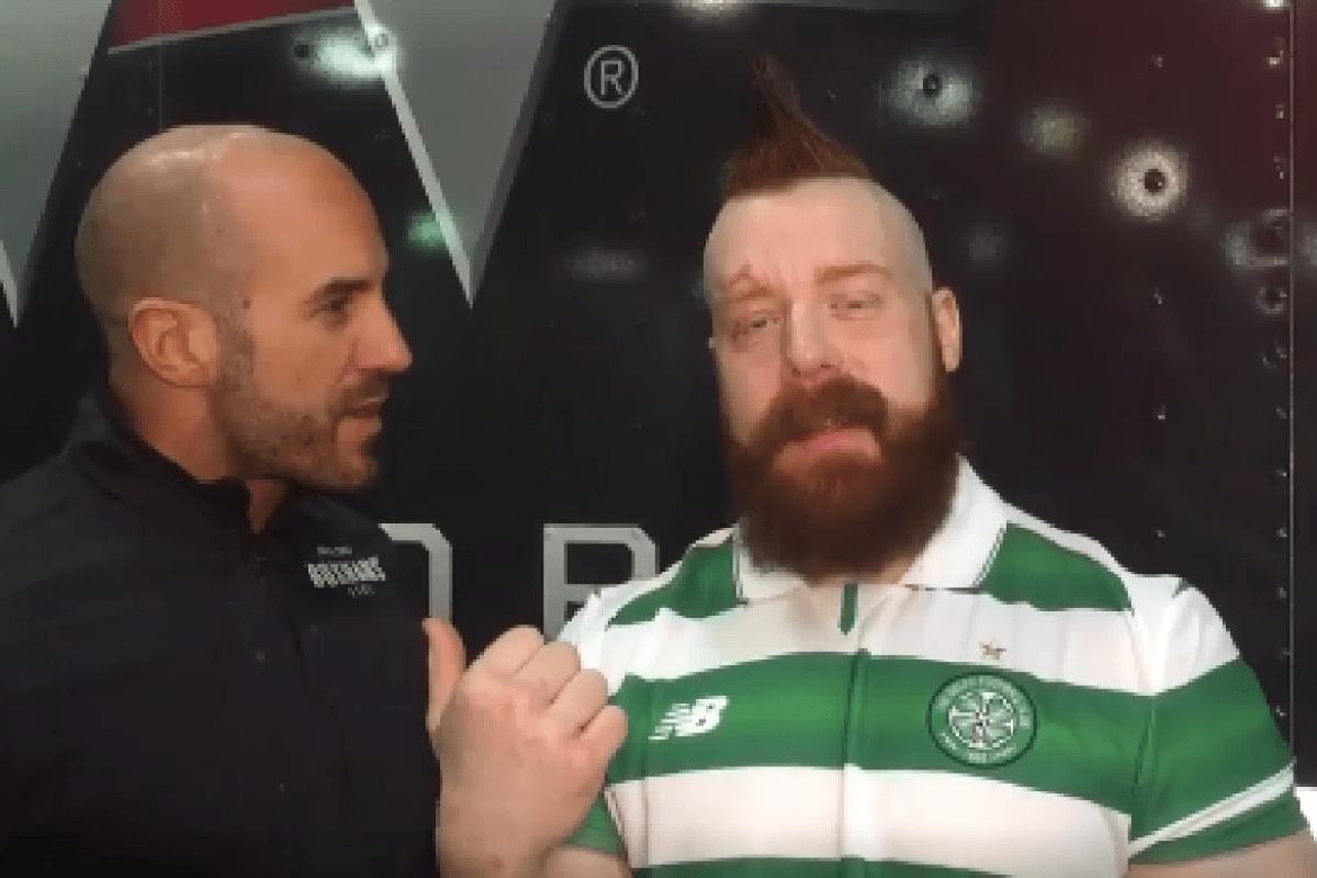 Watch Wwe Superstar Sheamus Tell Rangers Fan Cesaro Celtic Will