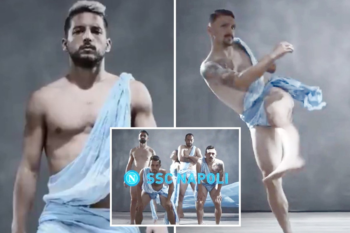 Napoli stars including Man Utd transfer targets Dries Mertens and Koulibaly strip off with dancers for