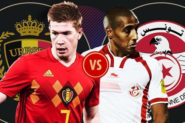 world cup 2018 belgium vs tunisia prediction odds line