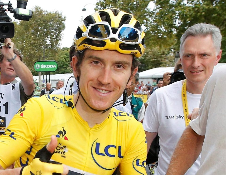 Geraint Thomas has called on the Government to make helmets compulsory