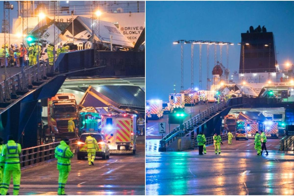 Major Incident On P Amp O Ferry Docked At Cairnryan As
