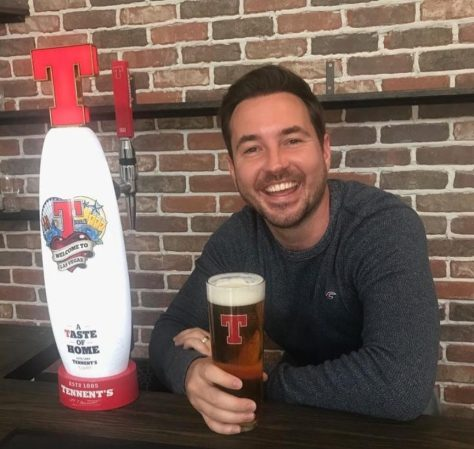 Compston recently had a Tennent's tap installed in his home