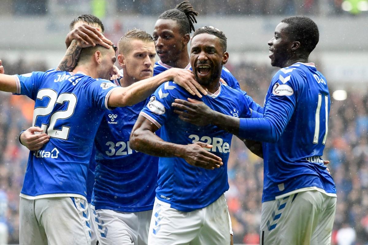 Rangers 6 Hibs 1 - Jermain Defoe hits hat-trick as ten-man Hibees