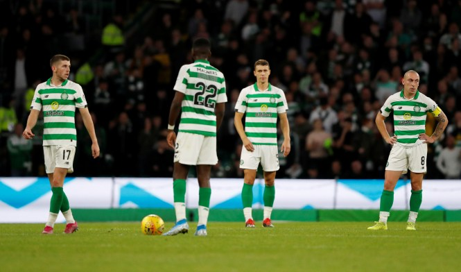 Celtic's players look dejected