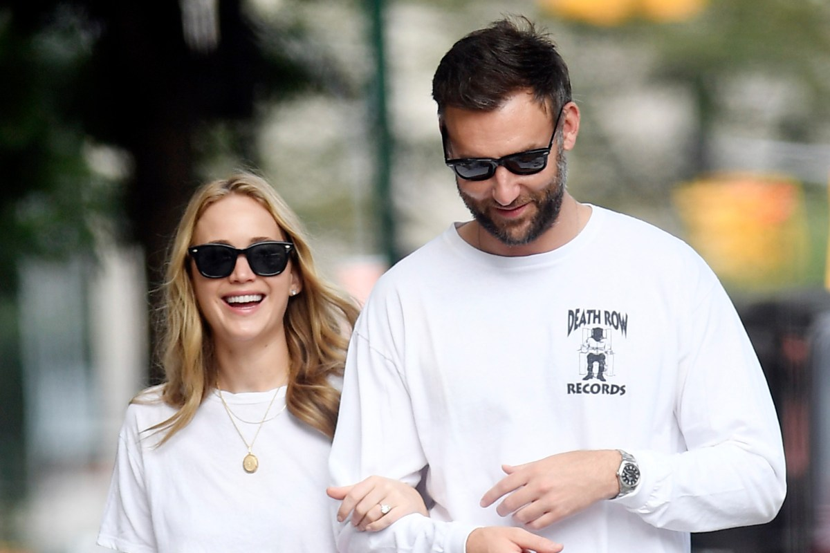 Jennifer Lawrence sparks rumours she's married in low key wedding after being spotted at New York courthouse w