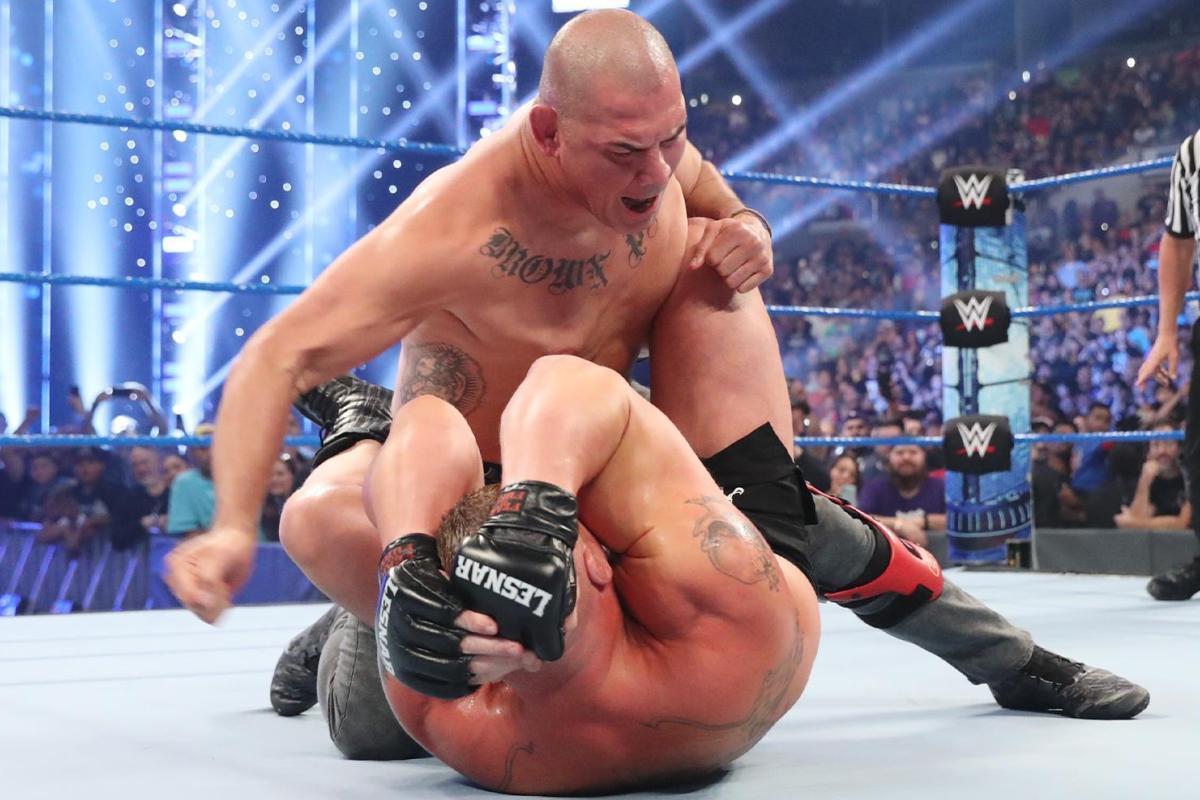 Brock Lesnar vs Cain Velasquez WWE rematch confirmed during explosive Las Vegas press conference