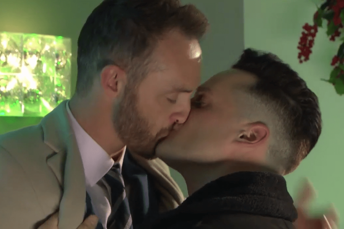 Hollyoaks fans left stunned by soap snogfest as Liam and James and Diane and Edward lock lips