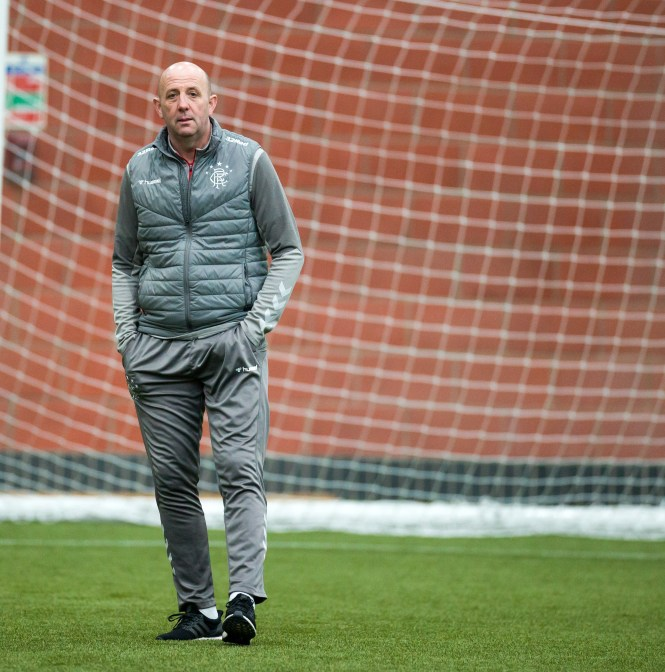 Rangers no.2 Gary McAllister on the training pitch