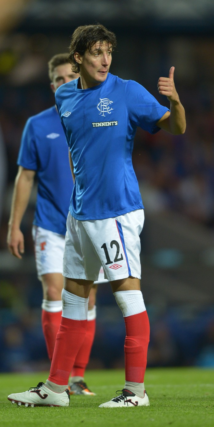 Sandaza in action for the Rangers