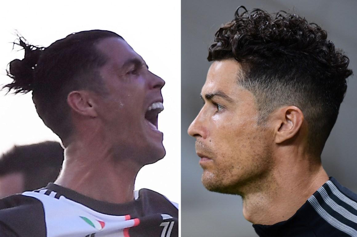 Cristiano Ronaldo unveils new hairdo in Juventus clash vs AC Milan ...