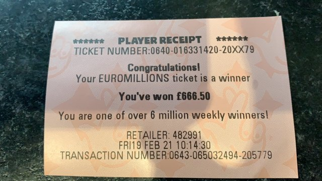 Aidan's winnings are miniscule compared to what he could have won