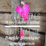 DIY Valentines Wine Glasses